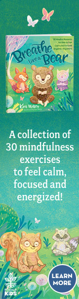 Rodale Kids: Breathe Like a Bear: 30 Mindful Moments for Kids to Feel Calm and Focused Anytime, Anywhere by Kara Wiley, illustrated by Anni Betts