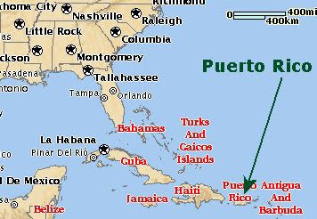 San Juan Puerto Rico On World Map | shamanichorsework