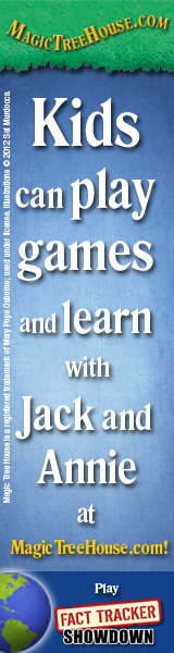 Kids can play games and learn with Jack and Annie at MagicTreeHouse.com