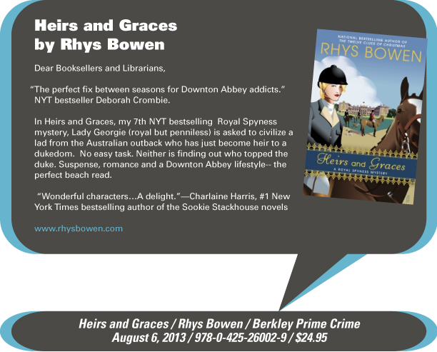AuthorBuzz: Heirs and Graces by Rhys Bowen