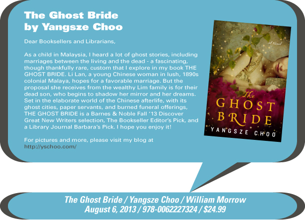 AuthorBuzz: The Ghost Bride by Yangsze Choo