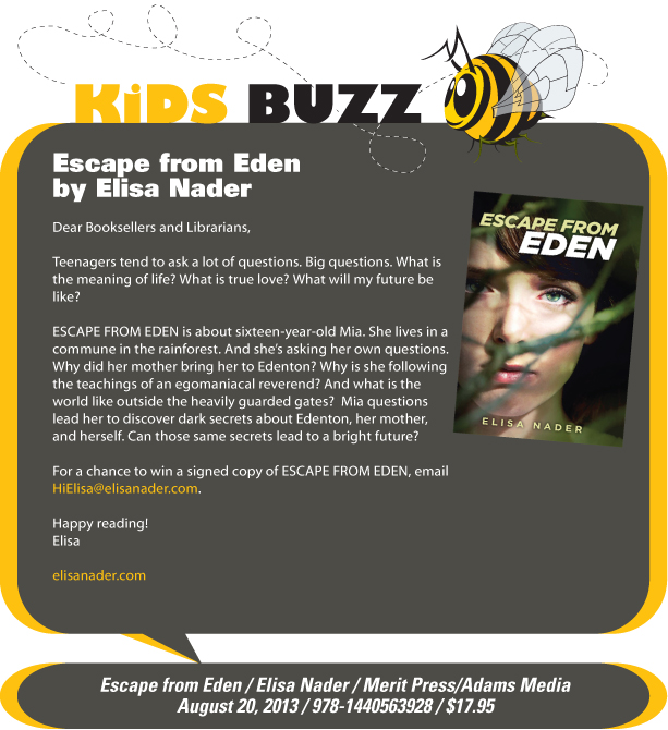 KidsBuzz: Escape from Eden by Elisa Nader
