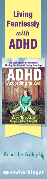 New Harbinger: ADHD According to Zoe by Zoe Kessler