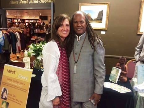 Celeste with Dr. Rev. Michael Beckwith as the featured