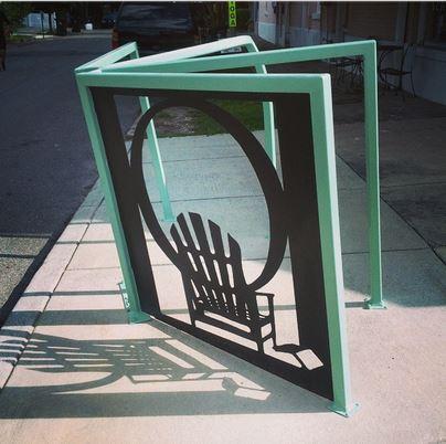 Octavia Books Bike rack