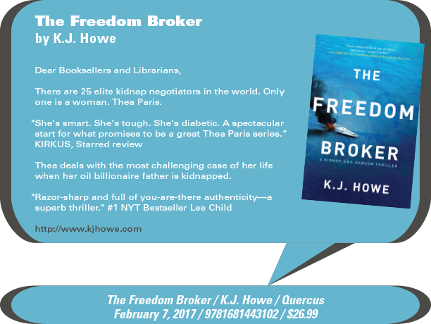 Quercus Books: The Freedom Broker by K.J. Howe