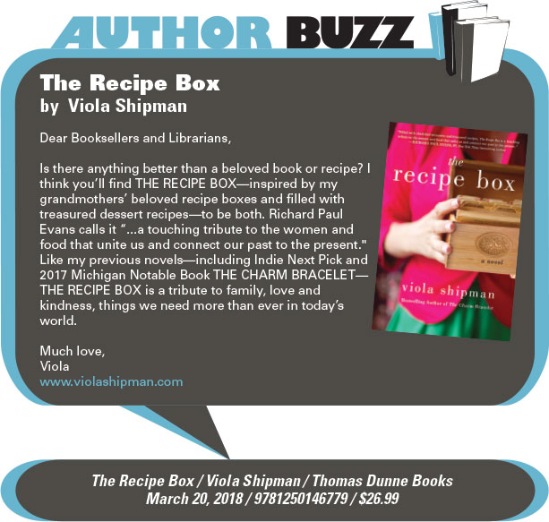 AuthorBuzz: Thomas Dunne Books: The Recipe Box by Viola Shipman