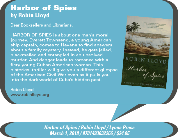AuthorBuzz: Lyons Press: Harbor of Spies by Robin Lloyd