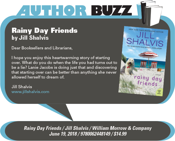 AuthorBuzz: William Morrow & Company: Rainy Day Friends by Jill Shalvis