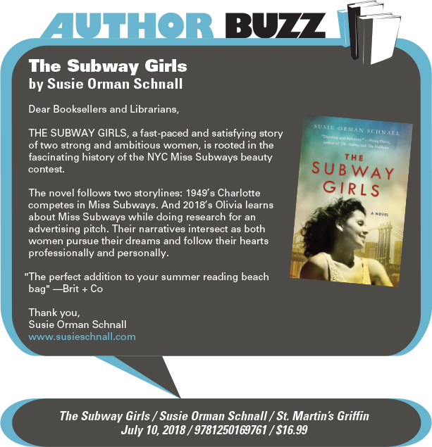 AuthorBuzz: St. Martin's Griffin: The Subway Girls by Susie Orman Schnall