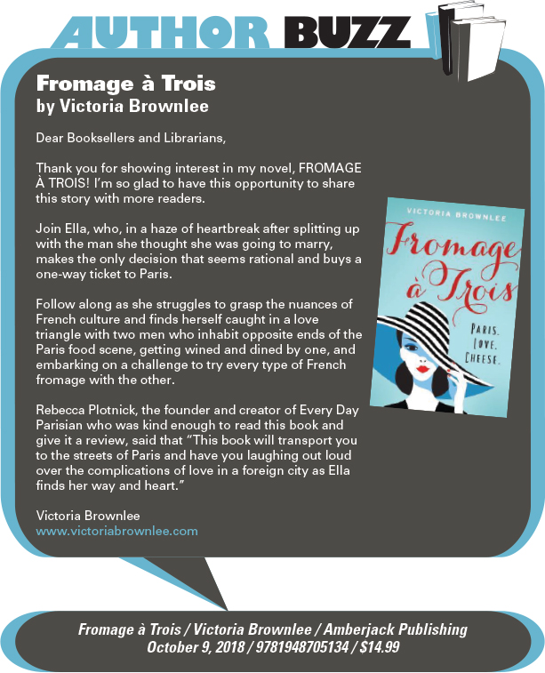 AuthorBuzz: Amberjack Publishing: Fromage à Trois by Victoria Brownlee