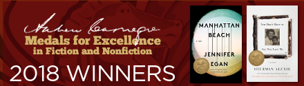 American Library Association: Andrew Carnegie Medals for Excellence in Fiction & Nonfiction