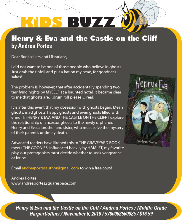 KidsBuzz: HarperCollins: Henry & Eva and the Castle on the Cliff by Andrea Portes