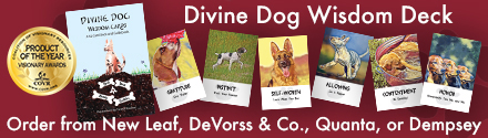 Enlighten Up: Divine Dog Wisdom Cards: A 62 Card Deck and Guidebook by Barb Horn and Randy Crutcher, illustrated by Teresa Shishim