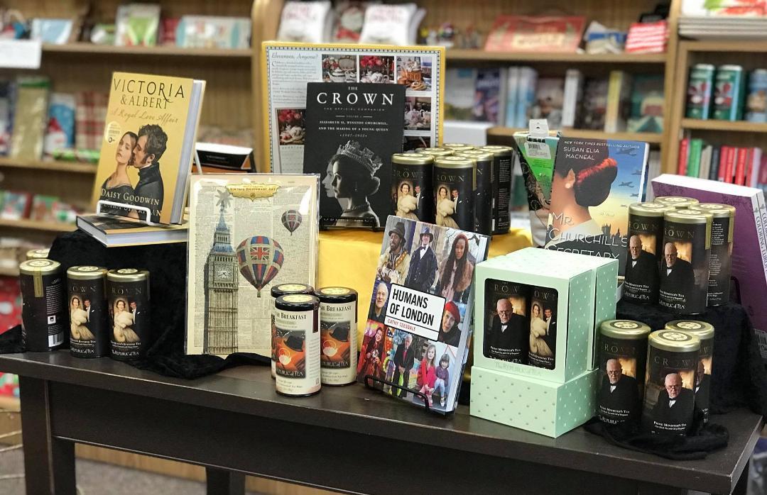 bookstore floor display of the day anderson s bookshop shelf