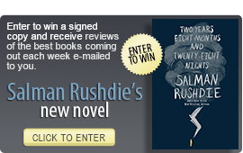Click here to enter a giveaway for TWO YEARS EIGHT MONTHS AND TWENTY-EIGHT NIGHTS by Salman Rushdie