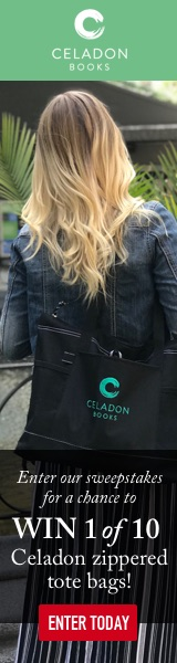 Celadon Books: Enter our sweepstakes for a chance to win 1 of 10 Celadon zippered tote bags!
