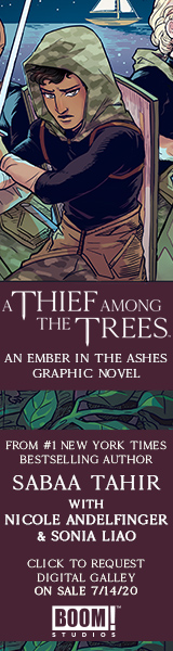 Archaia: A Thief Among the Trees: An Ember in the Ashes Graphic Novel by Sabaa Tahir and Nicole Andelfinger, illustrated by Sonia Liao