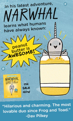 Tundra Books: Peanut Butter and Jelly (Narwhal and Jelly Book #3) by Ben Clanton