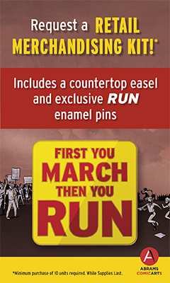 Abrams Comicarts: Request a retail merchandising kit for RUN!