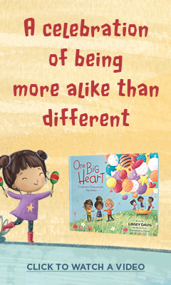 Zonderkidz: One Big Heart: A Celebration of Being More Alike Than Different by Linsey Davis, illustrated by Lucy Fleming