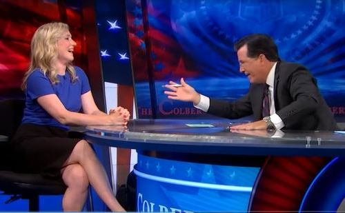 Edan Lepucki, Stephen Colbert, Colbert Report