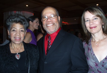 Jerry Pinkney with wife Gloria Pinkney (l.) and Megan Tingley, publisher of Little, Brown Books for Young Readers
