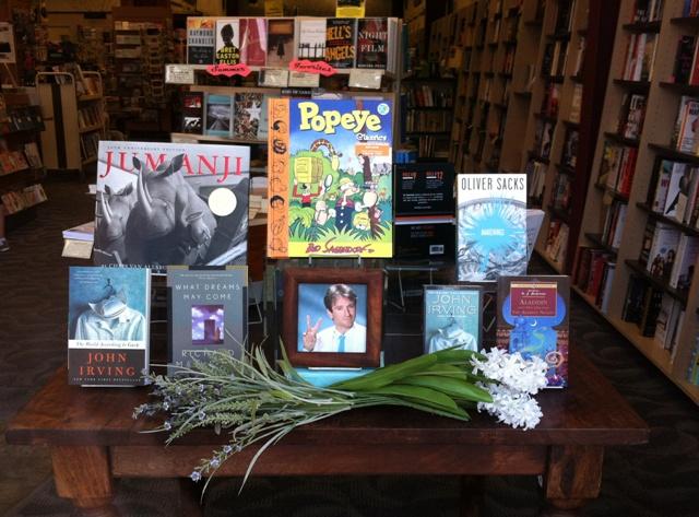 Robin Williams book display