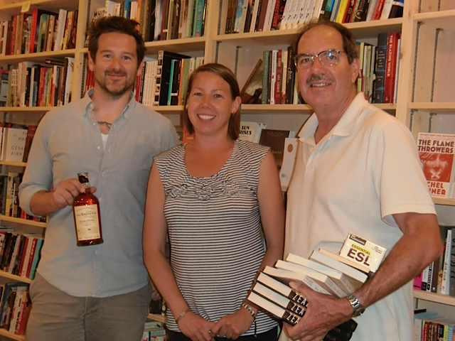 Stephen Sparks, Anna-Lisa Sandstrom and Jim Hanky at Green Apple Books on the Park