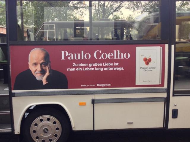 Paulo Coehlo bus ad