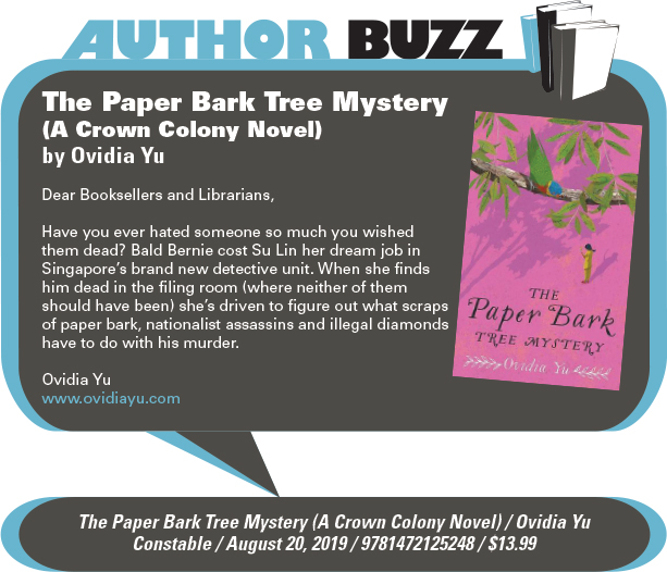 AuthorBuzz: Constable: The Paper Bark Tree Mystery (A Crown Colony Novel) by Ovidia Yu