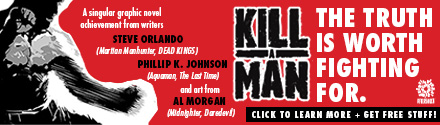 Aftershock Comics: Kill a Man by Steve Orlando and Phillip Kennedy Johnson, illustrated by Alec Morgan