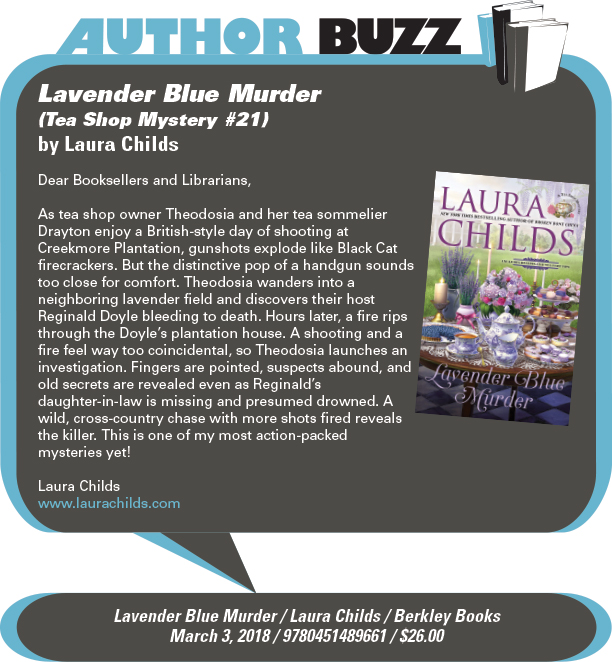 AuthorBuzz: Berkley Books: Lavender Blue Murder (Tea Shop Mystery #21) by Laura Childs