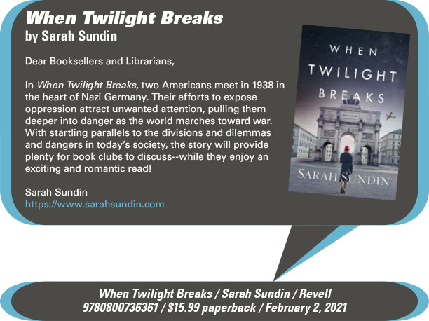 AuthorBuzz: Revell: When Twilight Breaks by Sarah Sundin