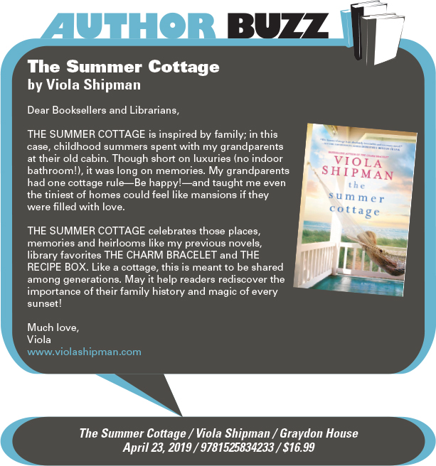 AuthorBuzz: Graydon House: The Summer Cottage by Viola Shipman