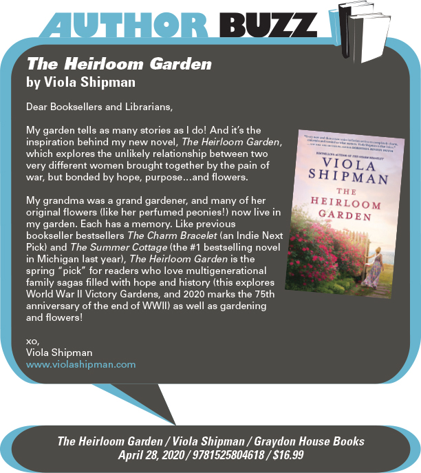 AuthorBuzz: Graydon House: The Heirloom Garden by Viola Shipman