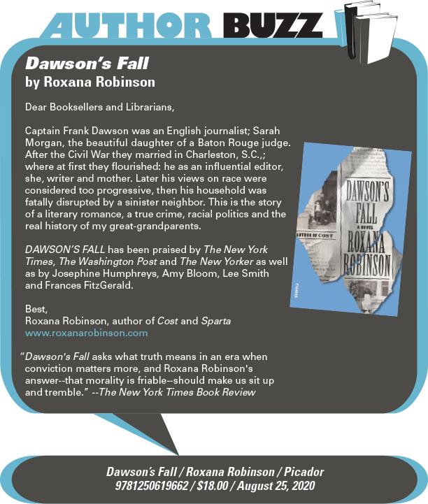 AuthorBuzz: Picador: Dawson's Fall by Roxane Robinson