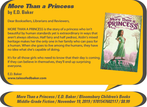 KidsBuzz: Bloomsbury Children's Books: More Than a Princess by E.D. Baker