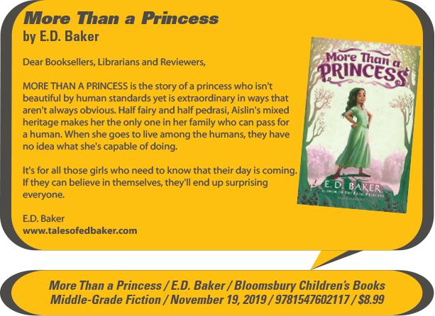 KidsBuzz: Bloomsbury Children's Books: More Than a Princess by E.D. Baker