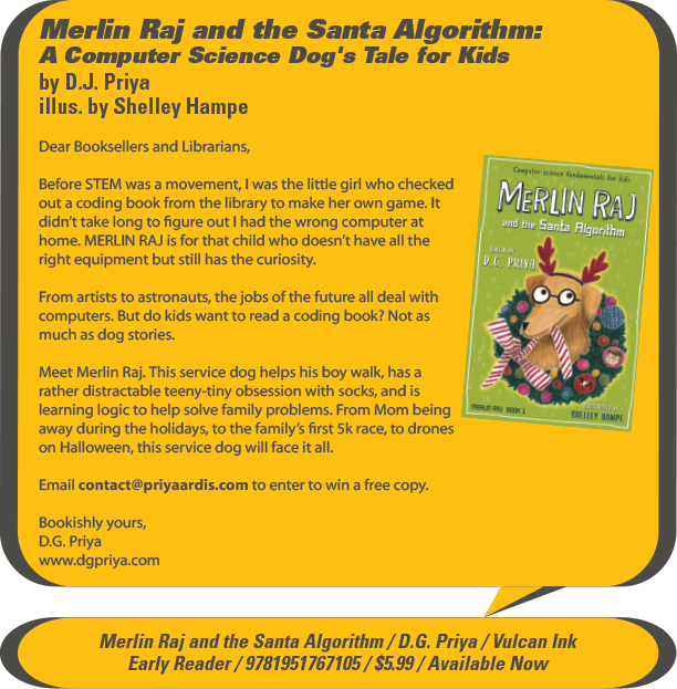KidsBuzz: Vulcan Ink: Merlin Raj And The Santa Algorithm: A Computer Science Dog's Tale for Kids (Merlin Raj #1) by D.G. Priya