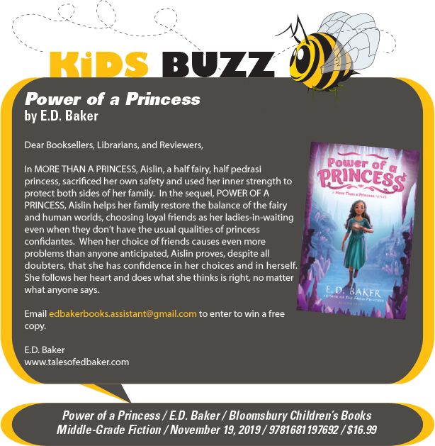 KidsBuzz: Bloomsbury Children's Books:  Power of a Princess (More Than a Princess) by E.D. Baker