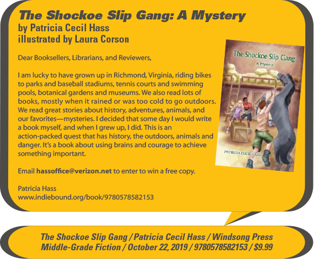 KidsBuzz: Windsong Press: The Shockhoe Slip Gang: A Mystery by Patricia Cecil Hass, illustrated by Laura Corson